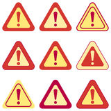 Set of Vector Exclamation Signs Stock Photography