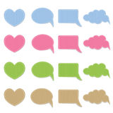 Set of vector fabric stickers Stock Photos