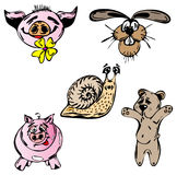 Set of vector farm animals Stock Photo