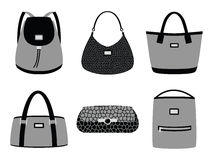 Fashion bags silhouettes Royalty Free Stock Photo