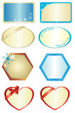Set of vector figures with ornament. Set of some figures with ornament Stock Photos