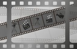 Set of vector film strip isolated on transparent background. Royalty Free Stock Photography