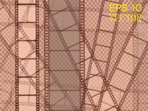 Set of vector film strip isolated on transparent background. Eps 10 Stock Photo