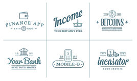 Set of Vector Finance Elements and Money Business as Illustration can be used as Logo Stock Images