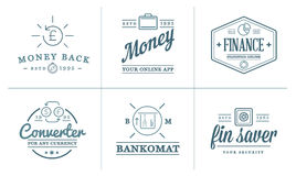 Set of Vector Finance Elements and Money Business as Illustration can be used as Logo Royalty Free Stock Photography