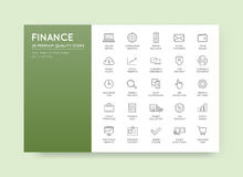 Set of Vector Finance and Money Icons can be used as Logo or Ico. N in premium quality Royalty Free Stock Images