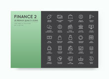 Set of Vector Finance Money Icons and Payments and Income Rich c. An be used as Logo or Icon in premium quality Royalty Free Stock Photos