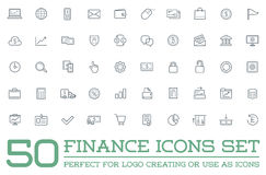 Set of Vector Finance Money Icons and Payments and Income Rich can be used as Logo Stock Photo