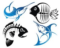 Set of vector fish Royalty Free Stock Images