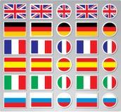 A set of vector flag buttons Royalty Free Stock Photos