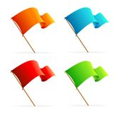 Set of vector flags. Icons Royalty Free Stock Photo