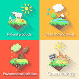 Set of vector flat design concept illustrations Royalty Free Stock Image