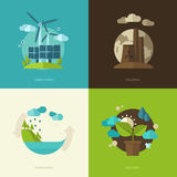 Set of vector flat design concept illustrations Royalty Free Stock Photos