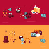 Set of vector flat design concept illustrations Stock Photography