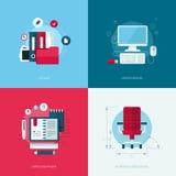 Set of vector flat design concept illustrations Stock Image