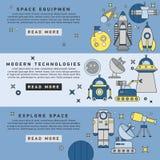 Set of vector flat design flyers Stock Photos