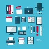 Set of vector flat design icons Royalty Free Stock Image