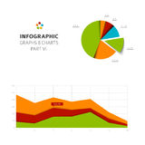 Set of vector flat design infographic charts and graphs 6. Set of vector flat design infographics statistics charts and graphs -  part 6 of my infographic bundle Royalty Free Stock Photos