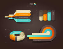 Set of vector flat design infographics statistics Royalty Free Stock Images