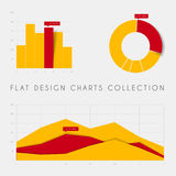 Set of vector flat design statistics charts and graphs Royalty Free Stock Photo