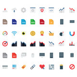 Set vector flat icons Stock Photo