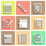 Set of vector flat icons for web and mobile Royalty Free Stock Image
