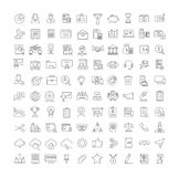 Set Vector Flat Line Icons Accounting and Finance Stock Image