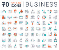 Set Vector Flat Line Icons Business vector illustration