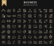 Set Vector Flat Line Icons Business. Set  line icons with open path business, finance and teamwork with elements for mobile concepts and web apps. Collection Stock Photo