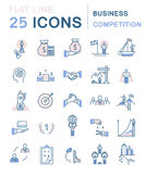 Set Vector Flat Line Icons Royalty Free Stock Photography