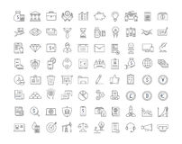Set Vector Flat Line Icons Finance Royalty Free Stock Photo