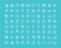 Set Vector Flat Line Icons Finance Stock Photo