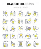 Set Vector Flat Line Icons Heart Defect Royalty Free Stock Image