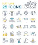 Set Vector Flat Line Icons London Stock Photo