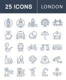 Set Vector Flat Line Icons London Royalty Free Stock Photo