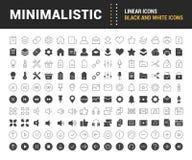 Set Vector Flat Line Icons Minimalistic Stock Photography