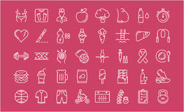 Set Vector Flat Line Icons Slimming Stock Photo