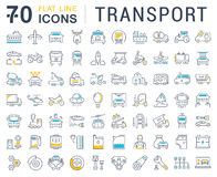 Set Vector Flat Line Icons Transport Stock Images