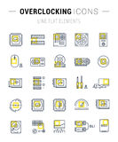 Set Vector Flat Line Icons Upgrading Computer Stock Photography