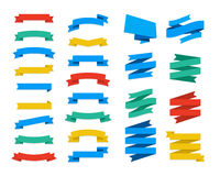 Set Of Vector Flat Ribbons and Banners Royalty Free Stock Photography