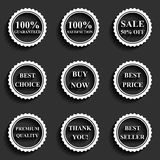 Set of vector flat sale icons Royalty Free Stock Images