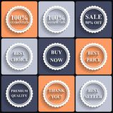 Set of vector flat sale icons Stock Photo