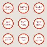 Set of vector flat sale icons Royalty Free Stock Photos