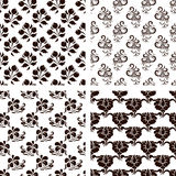 Set of vector floral backgrounds. Collection of vector floral backgrounds Stock Images