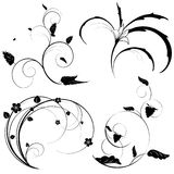 Set for vector floral elements Royalty Free Stock Photography