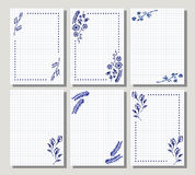 Set of vector floral frame, card, border. Greeting cards. Stock Images