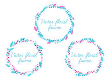 Set of vector floral frame. Set of vector floral frame for your design vector illustration