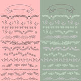 Set vector floral ornate elements. And borders for the page decoration Stock Photography