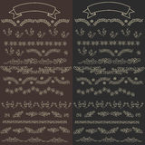 Set vector floral ornate elements. And borders for the page decoration Royalty Free Stock Photography