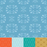 Set - vector floral patterns  Royalty Free Stock Image
